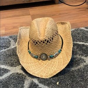 Silver and Turquoise Jewel Hat